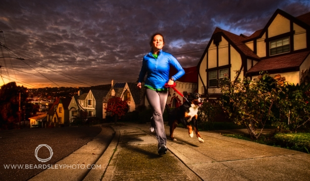 Matt Beardsley Photo, Runner & Dog on Meldon Ave